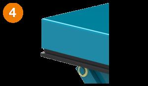 Bild von einer Hubtisch Kontaktschutzleiste