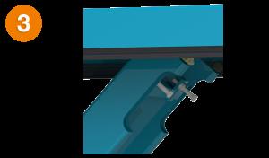 Bild von einem maschinell gefertigtem Hubtisch Vierkantprofil