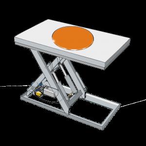 Bild von einer runden Drehplattform