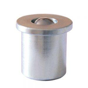 Kugelrolle aus Stahl-massiv mit Feder