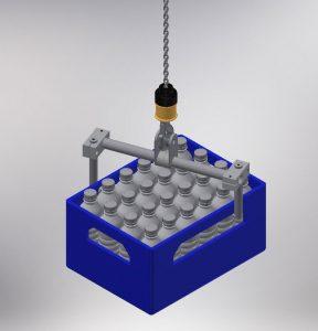 Werkzeug von Manipulator für Getränkekisten