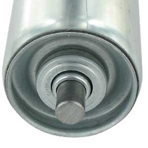 Stahl-Tragrolle mit glattem Achsende ohne Feder