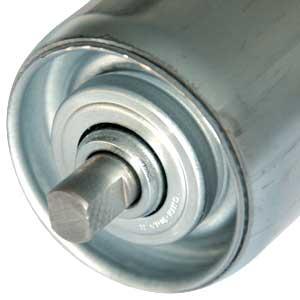 Stahl-Tragrolle mit Achsende Schlüsselweite